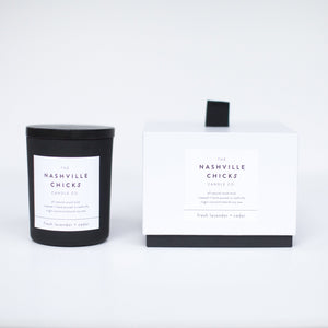 Matte Black - 6oz - fresh lavender + cedar