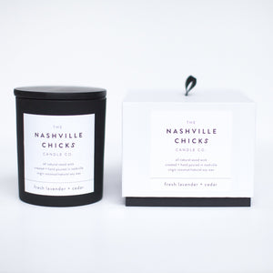 Matte Black - 13.5oz - fresh lavender + cedar