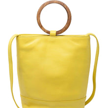Load image into Gallery viewer, Wood Bucket Tote- Lemon