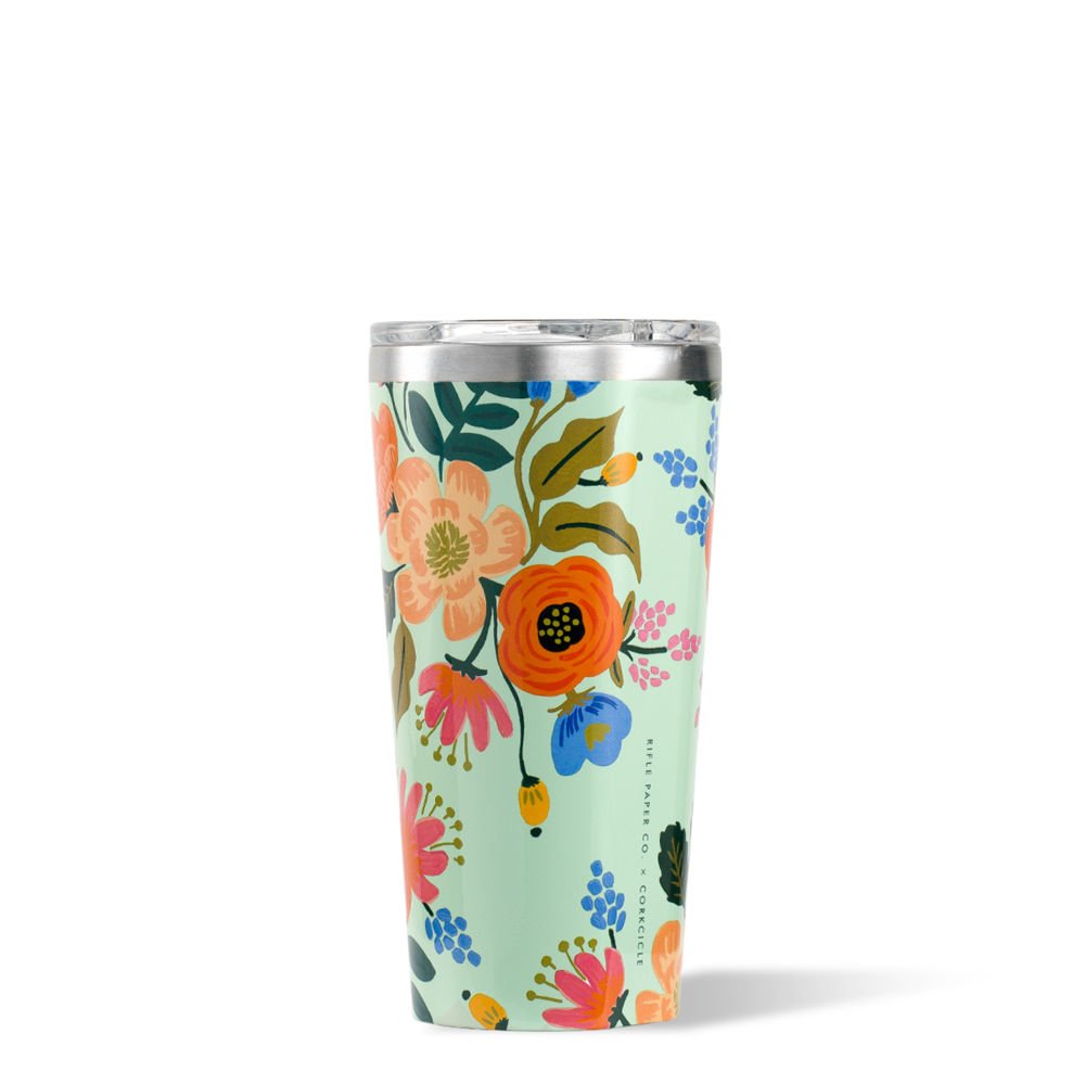 Rifle Paper Tumbler - 16oz Gloss Mint - Lively Floral
