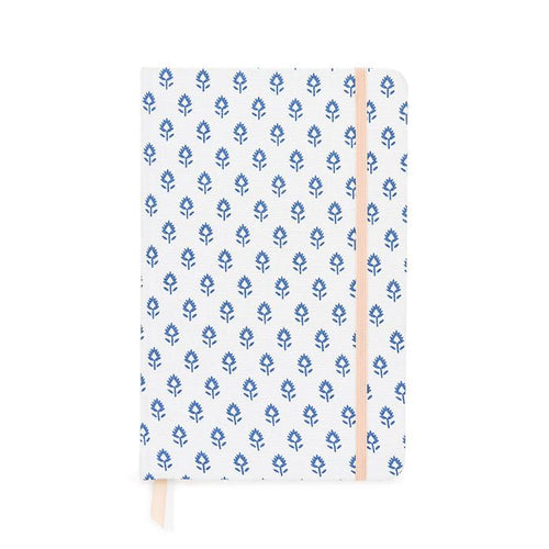 Essential Journal, Blue Block Print