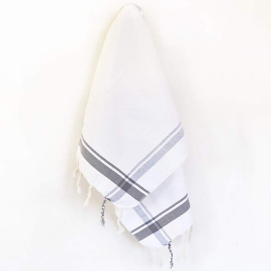 Butcher Hand Towel - Slate Gray Stripe