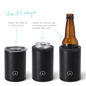 12oz Combo Cooler Matte Black