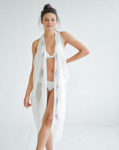 SILK TASSEL COVER-UP - WHITE