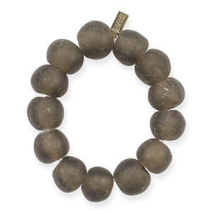 Taupe Recycled Large Glass Bracelet
