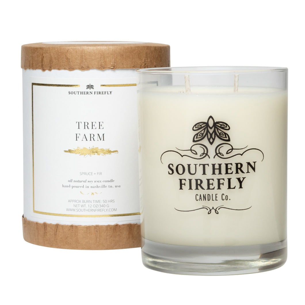 Tree Farm Glass Candle