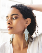 Load image into Gallery viewer, PORT AND GOLD FRINGE EARRINGS