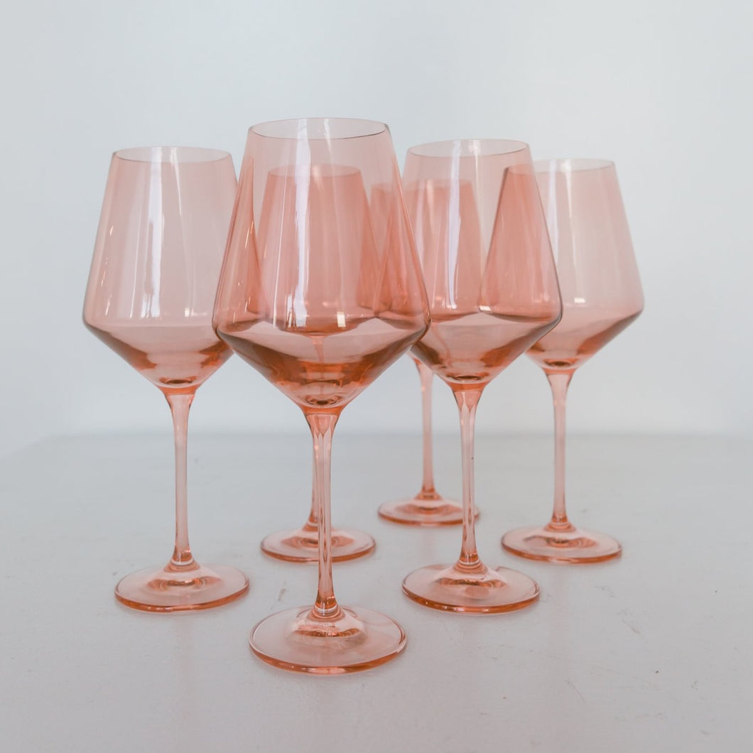 Wine Stemware - Set of 6 (Blush)