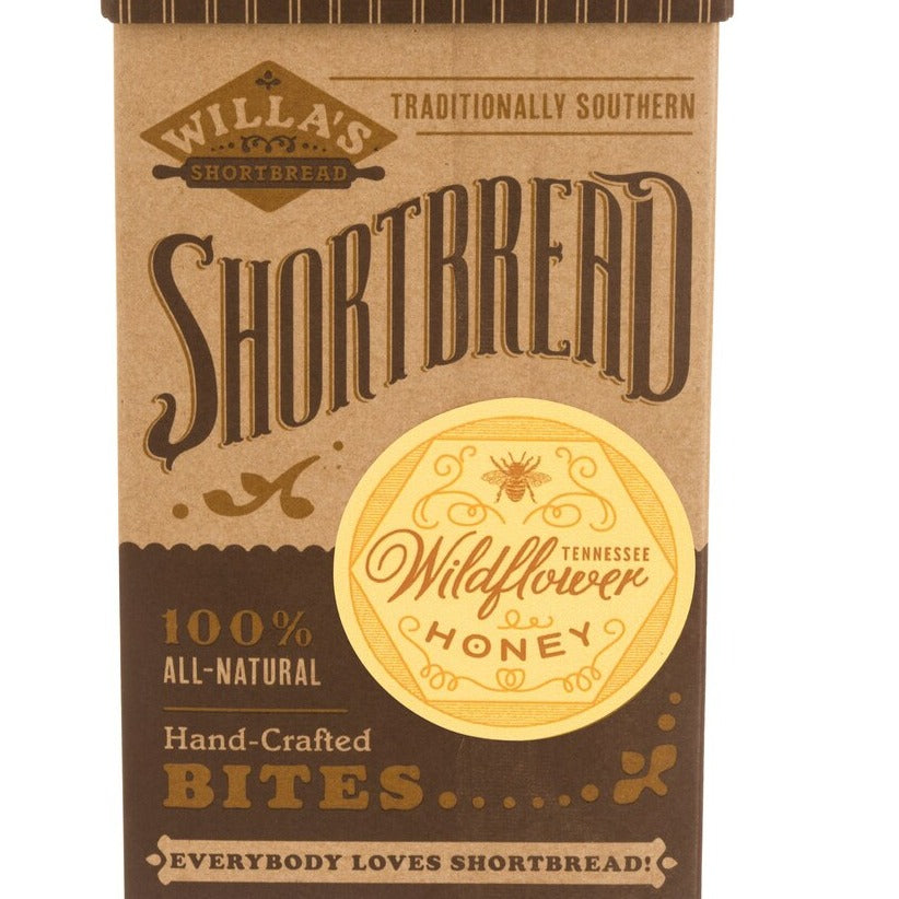 Wildflower Honey Shortbread - Fliptop Kraft Box