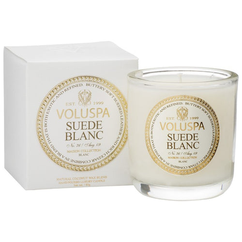 Classic Maison Boxed Candle Suede Blanc 12 oz.