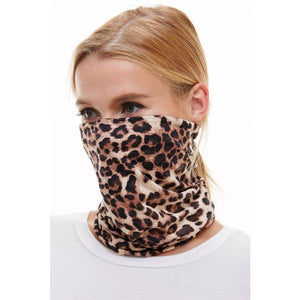 Neck scarf face mask (leopard)