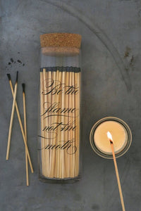 MATCH BOTTLE- FIREPLACE MATCHES CALLIGRAPHY