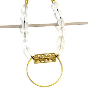 Chola Clear Leather Necklace
