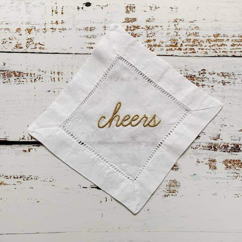 Cheers! Cocktail Napkins - Metallic Gold