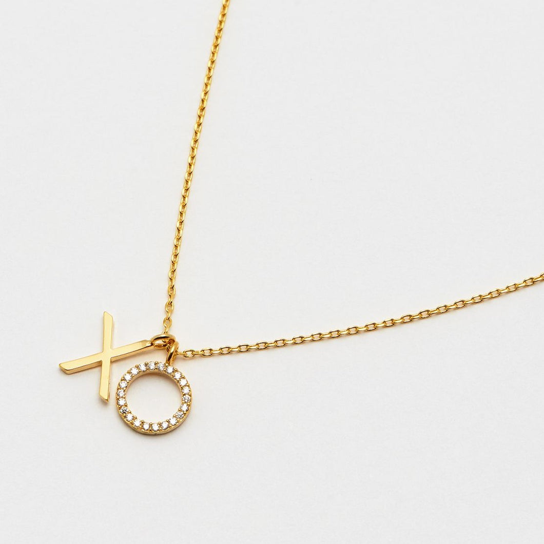 Xo Necklace Gold