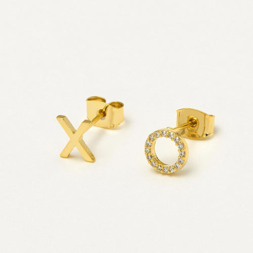 XO Earrings Gold Plated