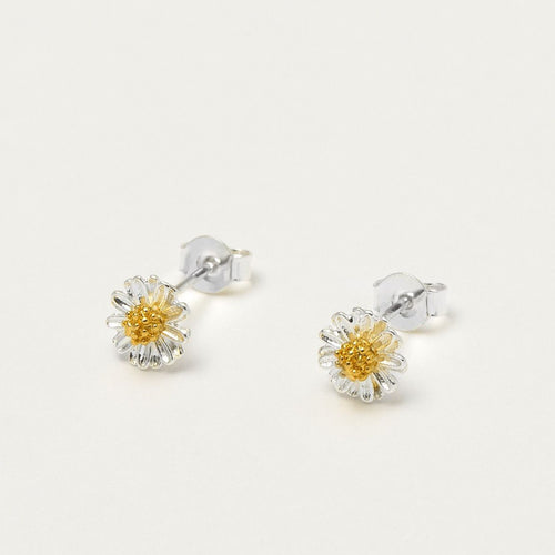Mini Wildflower Earrings Silver Plated