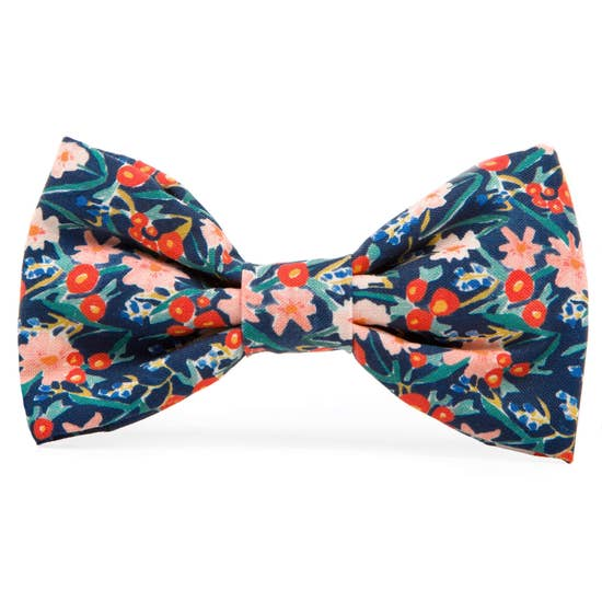 Inky Blooms Dog Bow Tie