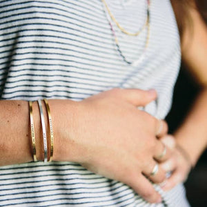 CUFF - DO SMALL THINGS WITH GREAT LOVE, GOLD PLATED
