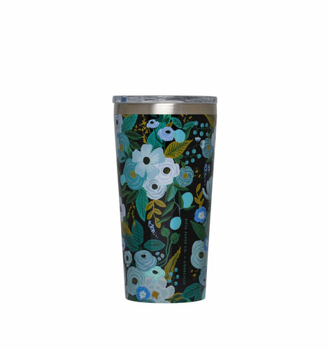 Tumbler 16 oz Rifle Paper Garden Party Blue