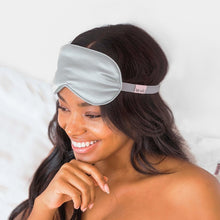Load image into Gallery viewer, Silver Satin Eye Mask