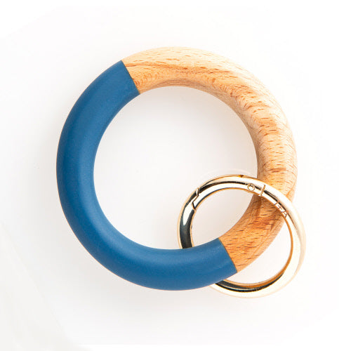 MARINE WOOD RESIN KEY RING
