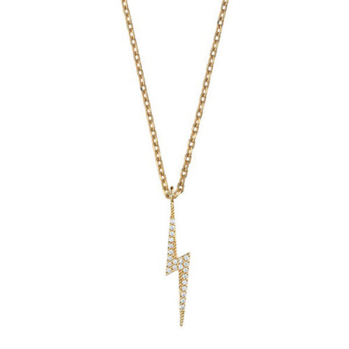 Lightning Bolt Necklace - Gold Plated