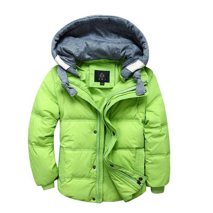 Boys Winter Jackets Removable Kids warm Down Parkas