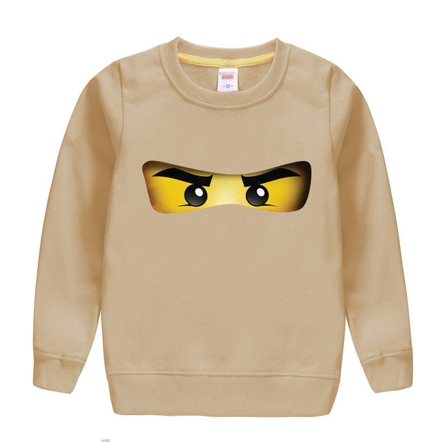 Ninjago cartoon pattern printed cotton spring autumn sweatshirt