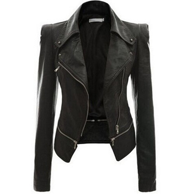Slim Fit Motorcycle Jacket Zipper