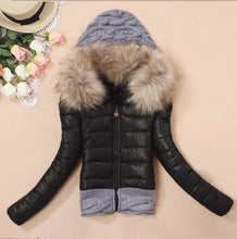 Load image into Gallery viewer, Hooded winter jacket women