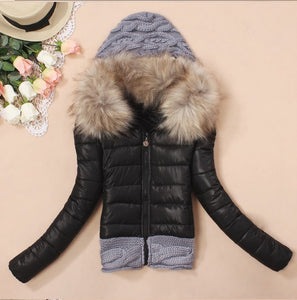 Hooded winter jacket women