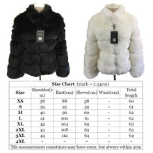 Load image into Gallery viewer, Winter Coat Women Faux Fox Fur Coat Plus Size