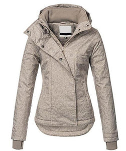 Windproof Hooded Coats Slim Causal Women