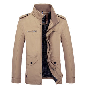Clothes Coat Jacket Slim Fit Mens