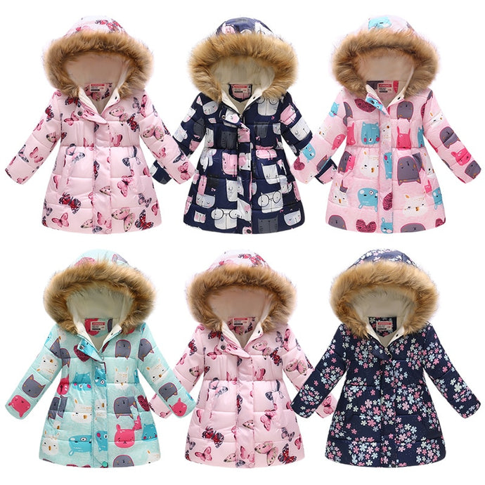 Baby Girls Clothes Fleece Down Jacket