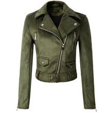 Load image into Gallery viewer, Women Autumn Winter Suede Faux Leather Jackets