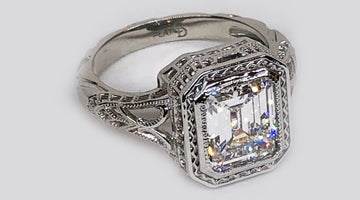 Custom Made Platinum Ring for Her Existing Exquisite Diamond