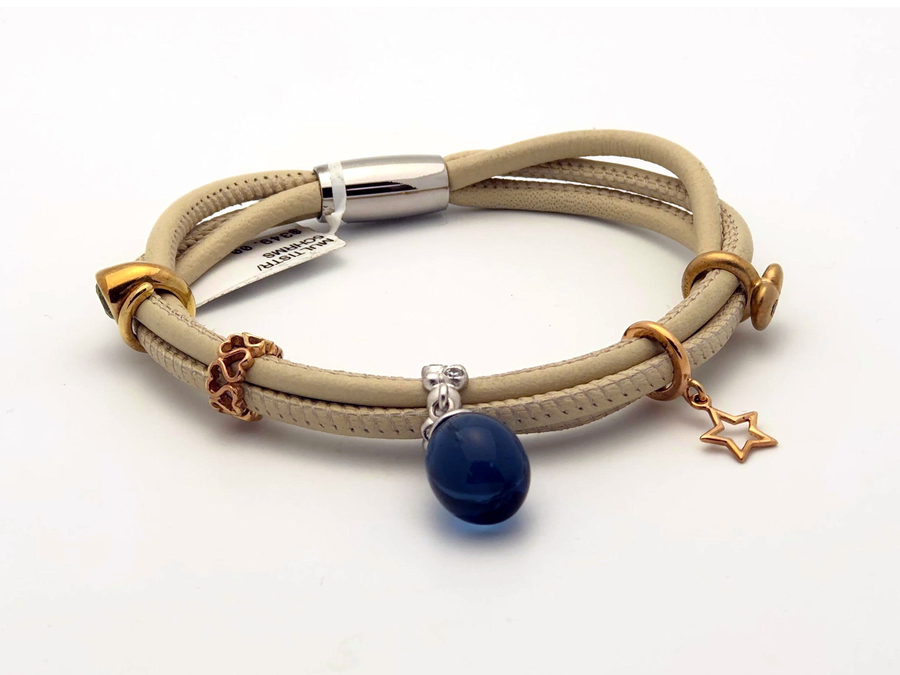 Endless Bracelet with Charms and Stone