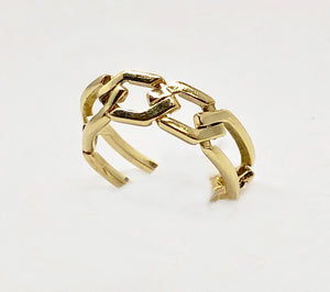 Gold Chain Link Ring 14karats