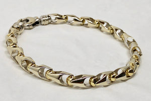 Mens Two Tone Gold Bracelet