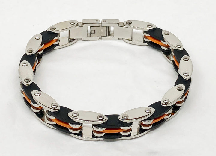 Steel Bracelet Rubber Orange