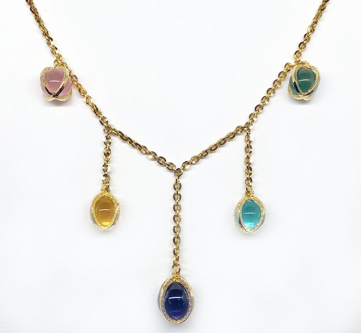 Rebecca Rio Collection Necklace Silver with 18K Gold Plating