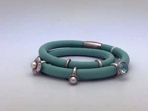 Endless Leather Charm Bracelt