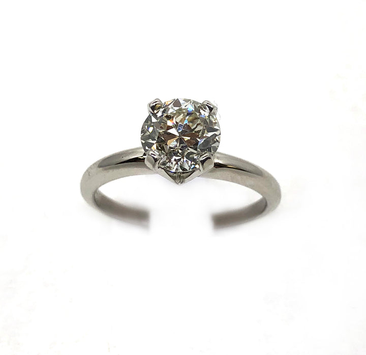 Solitaire Round Diamond Ring 14K Gold