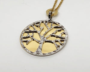 Rebecca Pendant Bronze and Gold Plating Tree