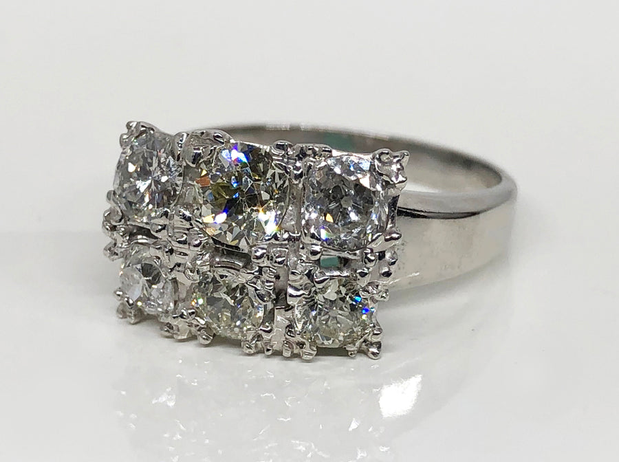 Fashion Diamond Ring in 14 Karat White Gold