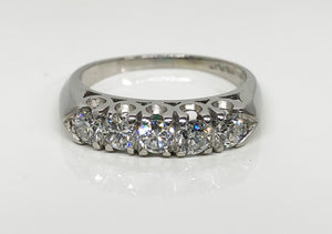 Traditional Platinum Diamond Band