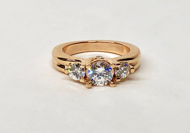 Diamond Ring Rose Gold Semimount 14Karat Gold