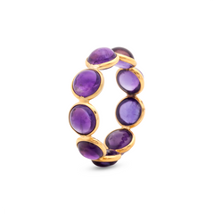 Amathyst Stackable Ring in 18 Karat Yellow Gold